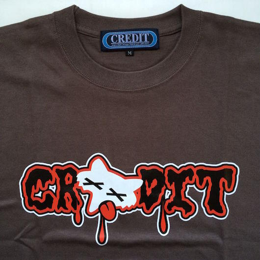 "CREDIT ""BBQ FOX"" T-SHIRTS・Charcoal"