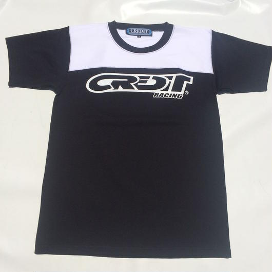 "CREDIT ""ATHLETIC - JERSEY""  TEE・Black/White"