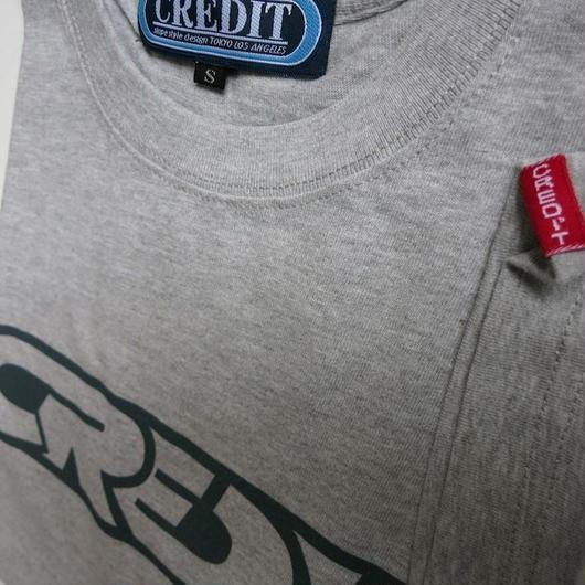 CREDIT 315 WING T-SHIRTS・Gray