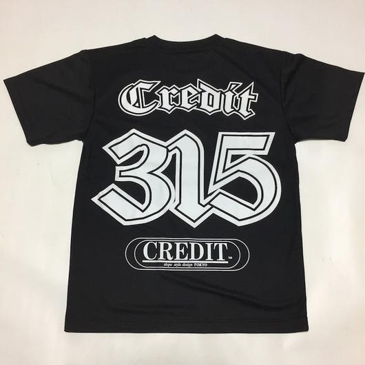 CREDIT 315 Numbering T-SHIRTS ~ DRY Tee・Black × White