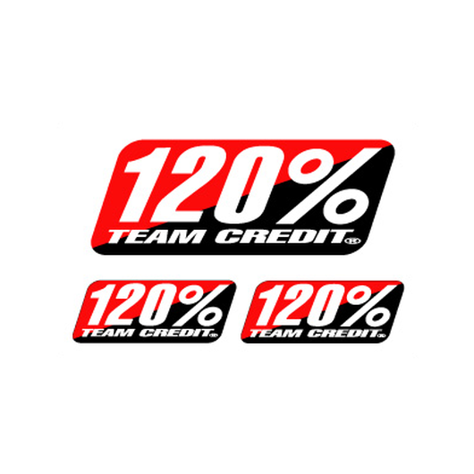 120% CREDIT STICKER