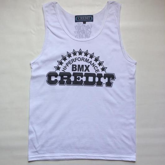 """CREDIT"" TANK-TOP・White"