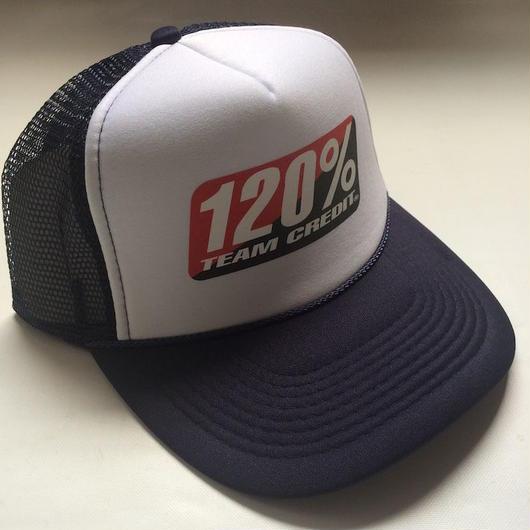120% TEAM CREDIT  Mesh cap・Trucker Navy