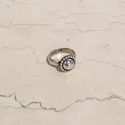 SILVER SMALL CONCHO RING(EA1206)