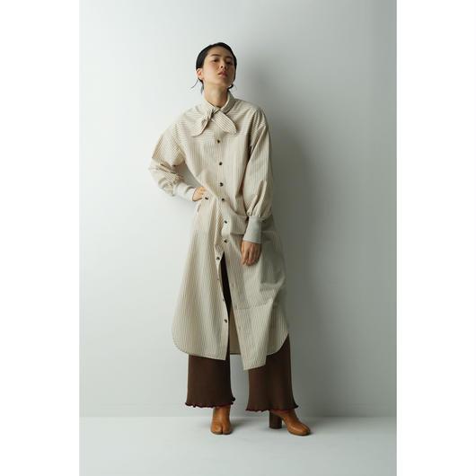 STRIPE BOW SHIRTS DRESS(OA2036)