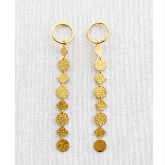 GOLD PLATE LEAD EARRINGS(EA1215)