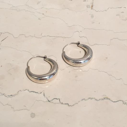 SILVER LARGE CIRCLE EARRINGS(EA1202)