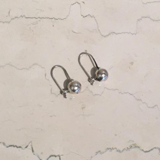 SILVER SMALL BALL EARRINGS(EA1207)
