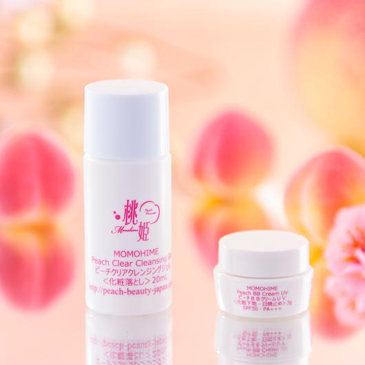 Peach Clear Cleansing Gel Mini + Peach Natural BB Cream UV Mini Set