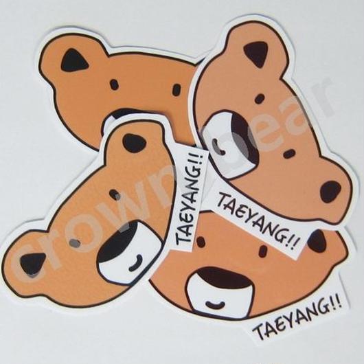 BIGBANG SOL / テヤン /ヨンベ ベア 耐水ステッカー/シール