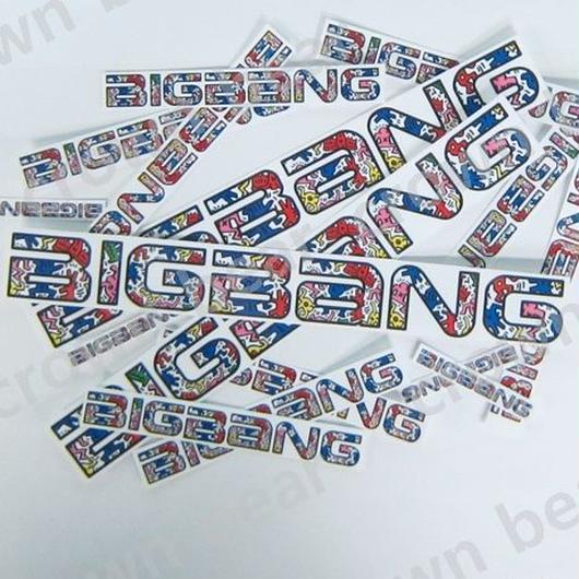 BIGBANG キースへリング柄Bigbang ロゴ 耐水ステッカー(大)