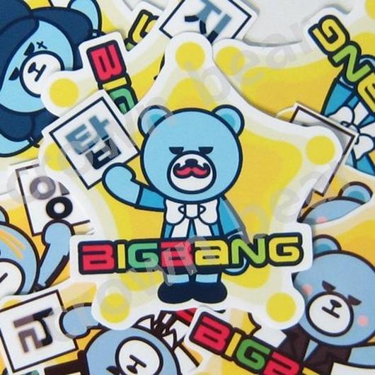 BIGBANG オリジナルYGベア ハングル名前入り耐水シール TOPver.