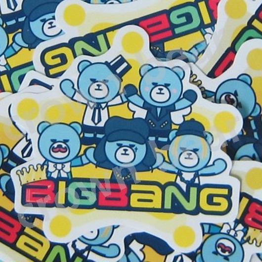 BIGBANG オリジナル YGベア+王冠 耐水ステッカー/シール 全員ver