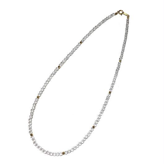 K18、水晶ネックレス