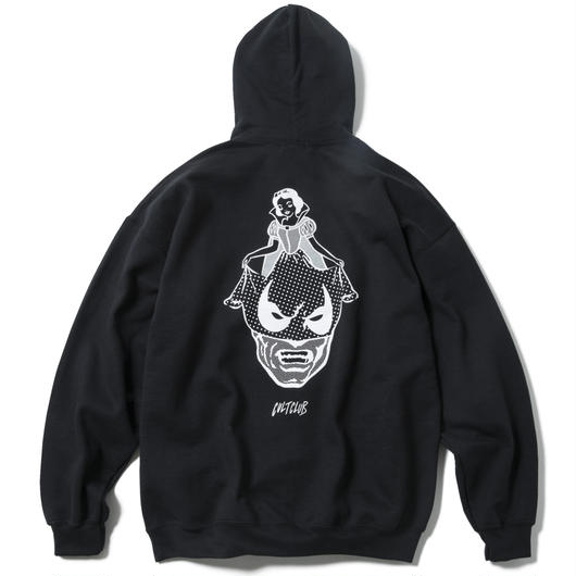 A SUNDAY SMILE HOODY  (BLACK) : ARTWORK by  JEROEN【CC17AW-017】