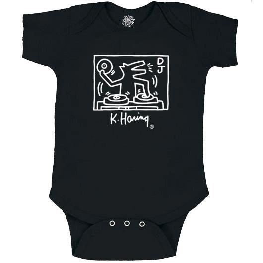 Keith Haring DJ Dog ロンパース【KH-029】