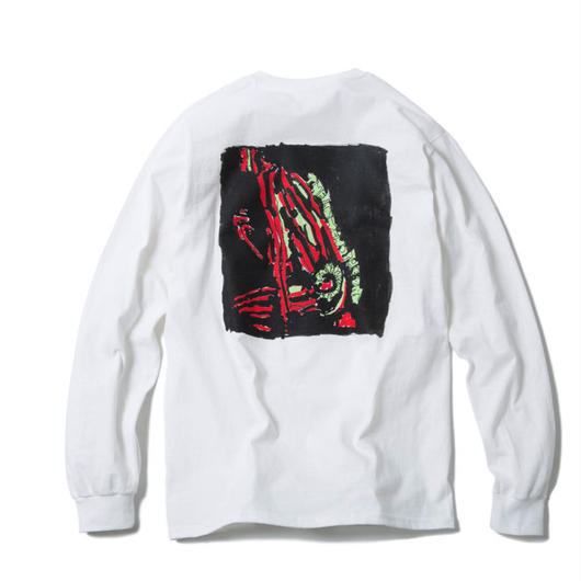 TRIBE LONG SLEEVE TEE : YUNG LENOX(WHITE)【CC17AW-010】