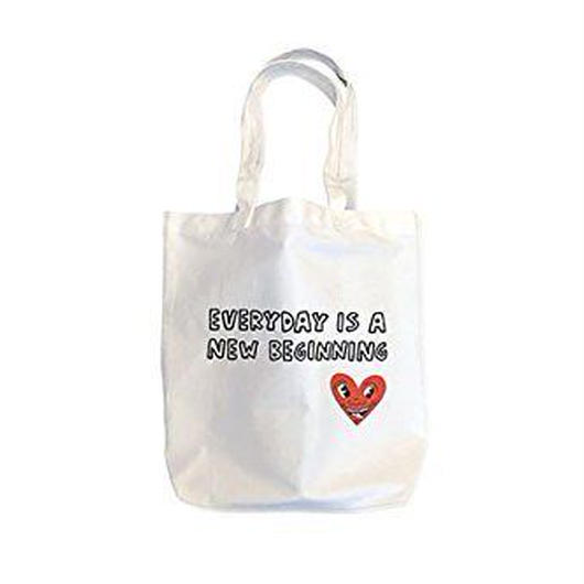 Keith Haring Tote Bag : EVERYDAY IS A NEW BEGINNING【KH-027】