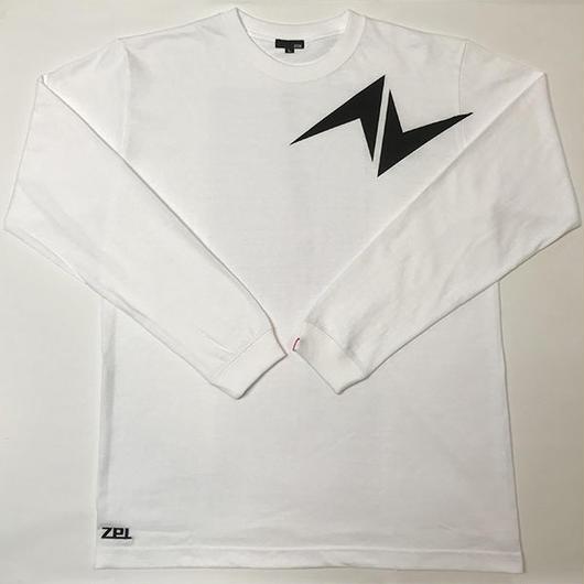 5.6オンス ロングスリーブTシャツ Zマーク ホワイト