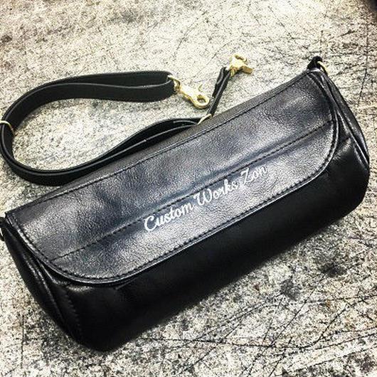 ZON × BACKDROP Leather shoulder bag