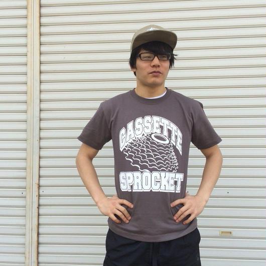 カセットスプロケットTシャツ(チャーコール)