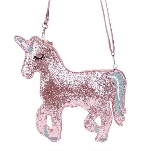 ユニコーンのショルダーバッグ ゆめかわいい ラメ キラキラ パーティークラッチバッグ 女の子へのプレゼントにも