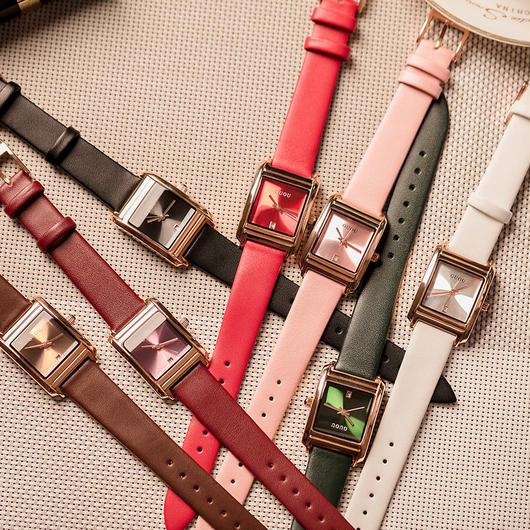 GUOU 上品スクエア文字盤 レザーストラップ腕時計 レディースウォッチ ジュエリーウォッチ / カルティエ エルメス お好きな方に