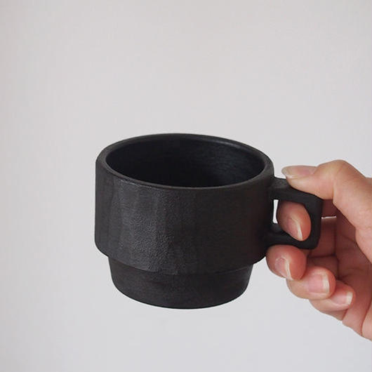 たま木工 マグカップ/黒漆 TAM-07