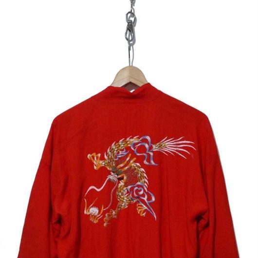 90's 刺繍入り レーヨンスカガウン オリエンタル スーベニアコート