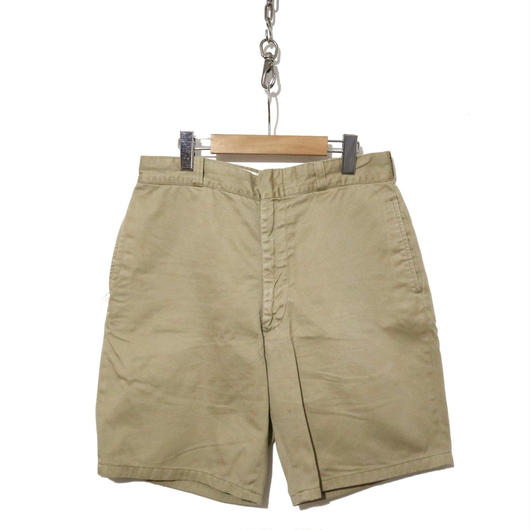 60's US ARMY Chino Trousers Cotton Khaki W33 カットオフショーツ