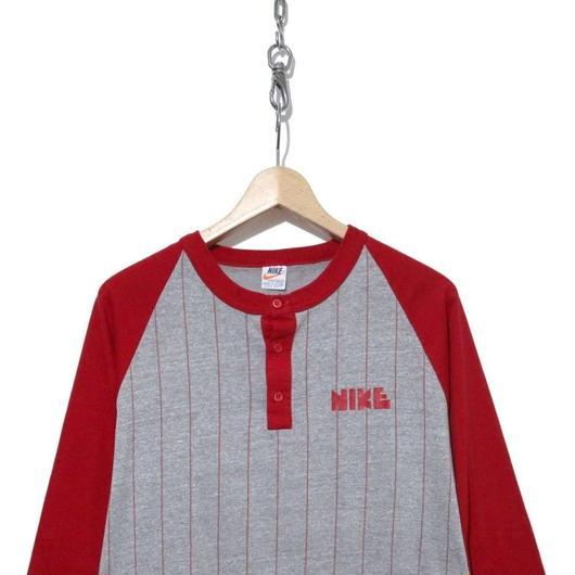 70's ゴツNIKE フットボール 七分袖 Tシャツ 希少XLサイズ