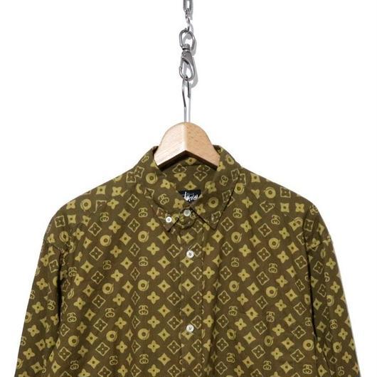 90's OLD STUSSY ヴィトンモノグラム BDシャツ USA製