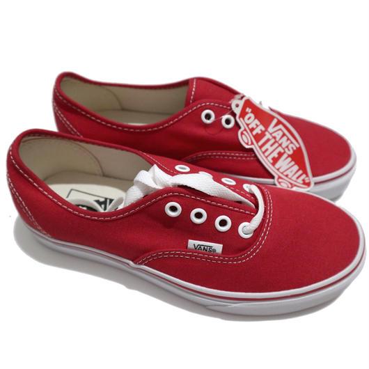"""新品 箱付き VANS """"Authentic"""" RED 24cm"""