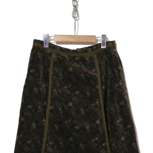 70's 西ドイツ製 ベロア総柄スカート