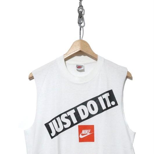 """90's  NIKE ノースリーブTシャツ """"JUST DO IT."""" 銀タグ USA製"""