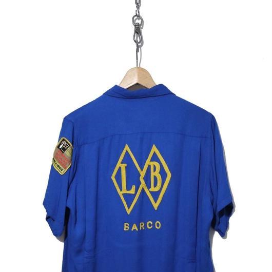 50~60's King Louie チェーンステッチ レーヨン ボーリングシャツ Mサイズ