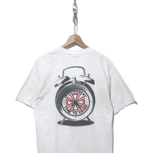 """00's初期 INDEPENDENT """"TIME TO GRIND"""" 両面プリント Tシャツ WHITE"""