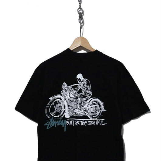 "90's OLD STUSSY プリントTシャツ ""BUILT FOR THE LONG HAUL"" USA製"