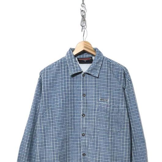 90's~00's VANS ボックス型 チェック コーデュロイシャツ Mサイズ