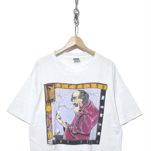 "90's 雰囲気系 アートプリント Tシャツ ""THY SELF"" USA製"