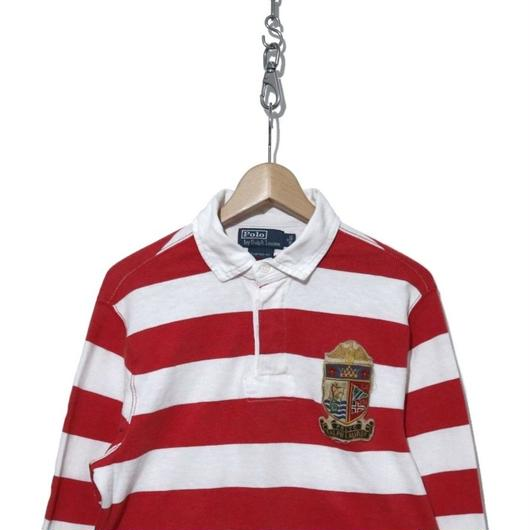 90's POLO by Ralph Lauren ボーダー ラガーシャツ Mサイズ