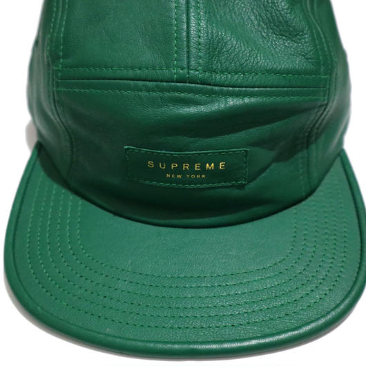 """Supreme"" LOGO CAMP CAP GREENレザー"