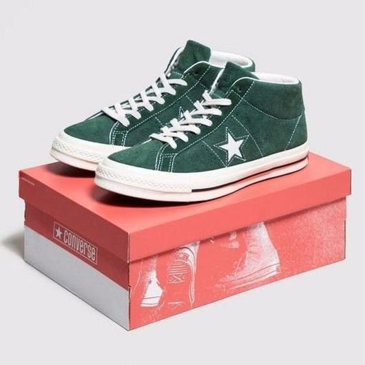 新品 国内未入荷 Converse One Star Premium Suede Mid GREEN 27.5/28.5