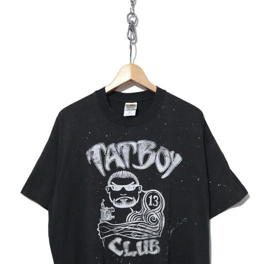 """90's """"TATBOY CLUB"""" タトゥーショップ 両面プリント Tシャツ BLACK"""