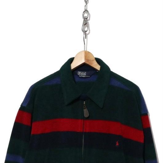 90's POLO Ralph Lauren マルチボーダーフリースジャケット