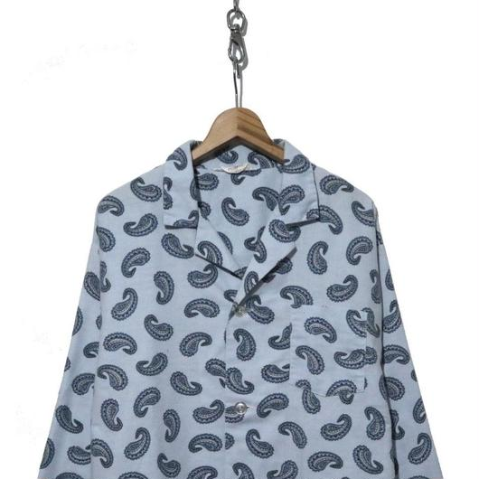 90~00's Arrow ペイズリー柄 パジャマシャツ Light-BLUE