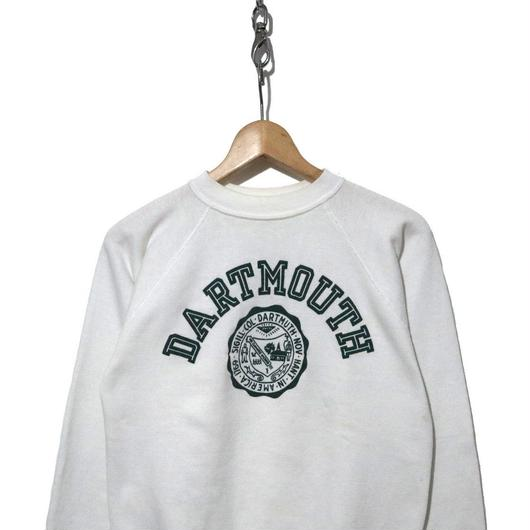 70's~80's DART MOUTH プリント スウェット WHITE×GREEN