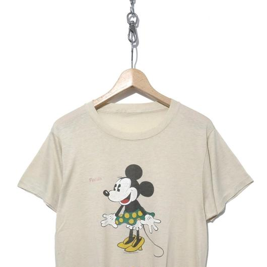 "70~80's Minnie Mouse ""Florida"" プリント Tシャツ コピーライト"