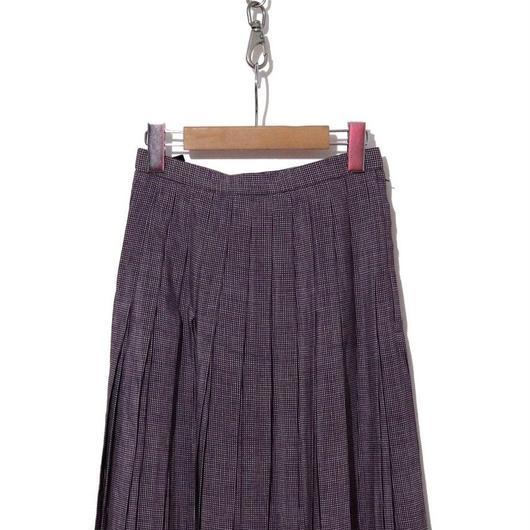 90's~ 膝下丈 ピンチェックプリーツスカート