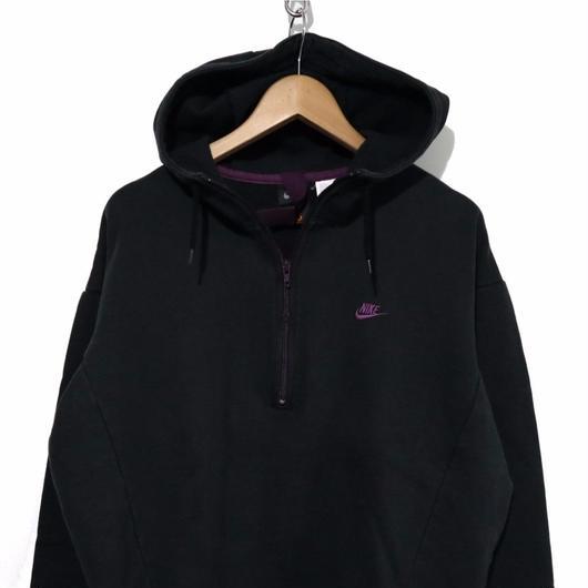 90's  NIKE ACG 袖ロゴ ハーフZIP プルパーカー BLACK ×PURPLE